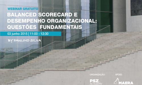 Webinar Gratuito – Balanced Scorecard e Desempenho Organizacional: Questões  Fundamentais
